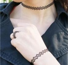 vintage stretch tattoo henna choker hippy necklace