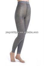 China Custom Sock Manufacturer Fashion Original Retro Tribal Wet Look Jacquard with Silver Karachi Girl Sexy Leggings For Woman