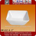 6.3inç özelleştirilmiş baskılı kare porselen kase salata