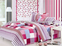 3pcs or 4pcs check pattern red/white stripe comforter set !Queen or king size /comfortable bedsheet set