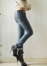 Best Design Of Ladies Skinny Jeans With Green tined