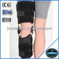 Semi- rígida moldura rom de controle de movimento pós- op dobradiça do joelho cinta