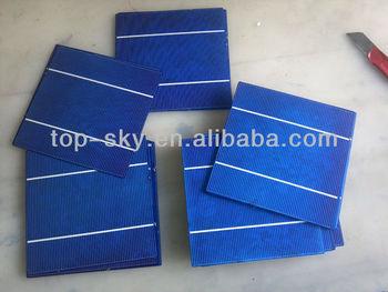 Taiwan brand 156mmx156mm multicrystalline solar cell, 6inch 2BB high efficiency multi cell