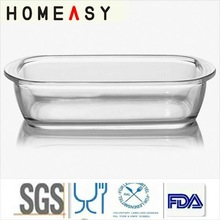 Microwaveable glass dishes