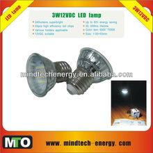3w 12v dc solar led bulb
