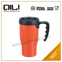 Fashion wholesale plastic double personalised mug with handle
