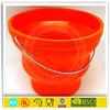 silicone collapsible ice bucket with S/S handle