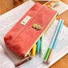 Wholesale Vintage Canvas Zipper School Pencil Bag/cases
