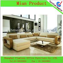 The Latest Large Size U-shaped genuine leather Corner Sofa fabric sofa sets for living room modern design fabric sofa