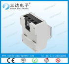 Single Phase 4P 7 Digits LCD DIN Rail Electric Energy Meter
