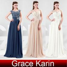 2015 Grace Karin Short Sleeve Long Chiffon Prom Dress CL4473