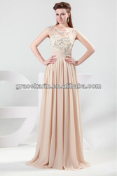 2015 Grace Karin Short Sleeve Long Chiffon Prom Dress CL4473
