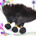 Venta al por mayor aliexpress 100% recto sedoso cabello virgen de brasil extensiones de cabello humano
