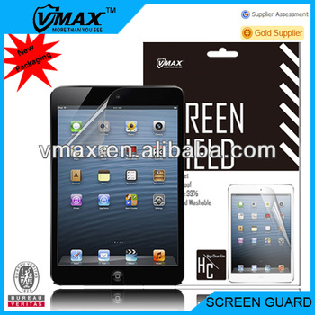 For iPad mini clear screen protectors oem/odm(High Clear)