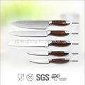 2014 luxuosas de índice de cozinha jogo da faca com punho de madeira