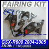 Motorcycle Fairing For SUZUKI GSXR 750 GSXR 600 2004-2005 BLACK FFKSU003