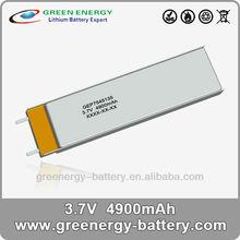 li-polymer battery rechargeable cells rc lipo battery packs 4900mah GEP7545135