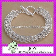Direct Manufacturer 925 Silver Plated Chain & Link Silver Bracelet For Men
