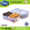 2 compartimentos de plástico contenedor de alimentos en las divisiones 4 1150ml