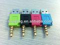 Usb a 3.5mm adattatore jack per cuffie stereo cavo per ipod