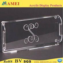 2013 Hot-sale acrylic bathroom amenity tray/Customized acrylic bathroom amenity tray