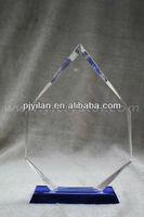 elegent clear blank custom crystal glass awards trophies