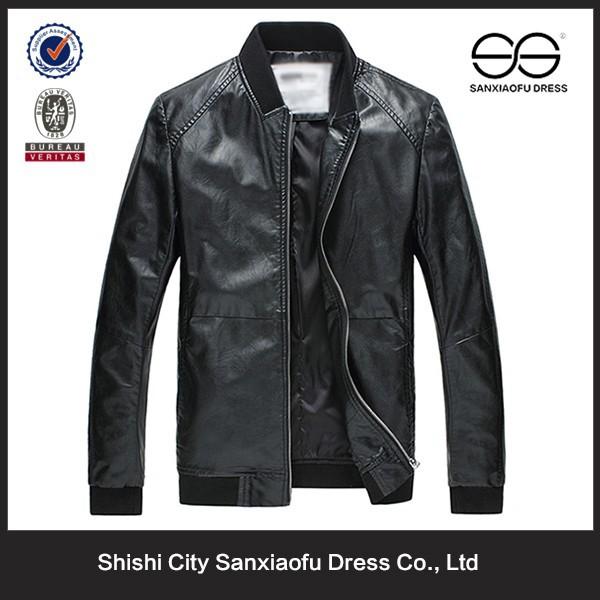 ผู้ผลิตเสื้อหนังฤดูหนาวสำหรับผู้ชาย, ราคาถูกมารยาทเสื้อหนังรถจักรยานยนต์, ผู้ชายแจ็คเก็ตหนังแท้สีดำ
