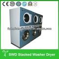 Comercial double stack máquina de lavar e secador de