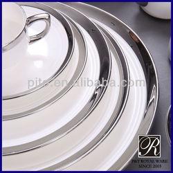 PITO porcelain dinnerware white silver
