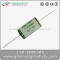 C portable mobile d'urgence lumière batterie pack, 3.6 V 8600 mah er26500