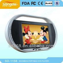 11.5 Inch TFT Portable DVD Player+TV TUNER/VGA/GAME/DVD/CARD REA