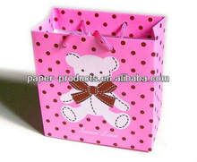 Pink bear Carry paper bag for garment and gift