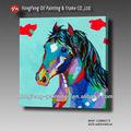 puro hecho a mano decorativos de imágenes de caballos pintura al óleo