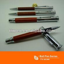 TTX-M23BR Wooden ball pen and roller pen gift pen set