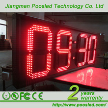 led time zone clock \ led time controller \ led large digital wall clock time display
