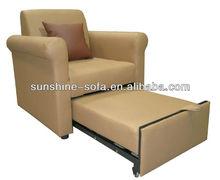 Good sale Single Leather Sofa Bed Sleeper/ Sofa manufacturer