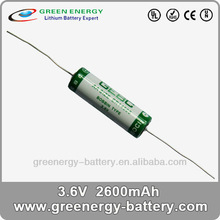 3.6v high rate battery pack high current batteries ER14505 2600mah AA