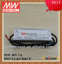 UL 100W 48V led driver HLG-100H-48B constant current and constant voltage high efficiency power supply