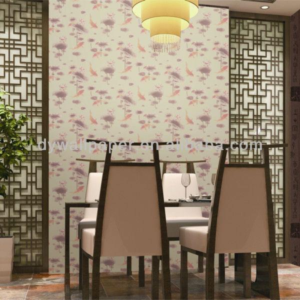 chinese design non-woven wallpaper for interior decoration