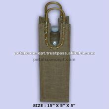 Decorative jute wine bag