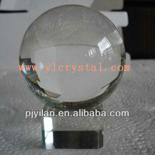 nice fashion blank clear round crystal sphere