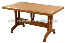 plastic folding table with plastic leg
