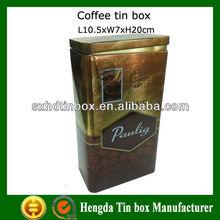 Good grade Coffee tea tin box metal tin box