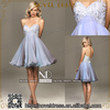 13181 Fashionable chiffon light blue off shoulder sweetheart neckline cocktail party dress