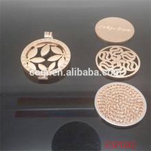 Custom Design Rose Gold Locket Coin 2014 stainless steel pendant