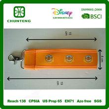 soft neoprene metal key chain for promotional gift