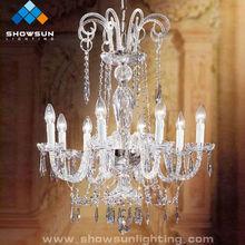wholesale glass pendant chandelier crystal lamp for bedroom lighting