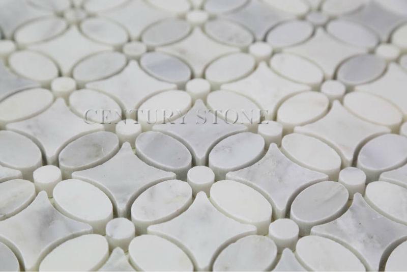Oriental White Marble Flower Pattern Mosaic Tile View Flower Pattern