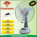 big 18 polegadas ventilador de emergência recarregável com bateria de luz