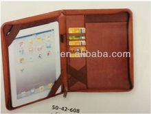 Custom Brown Leather Ipad case portfolio